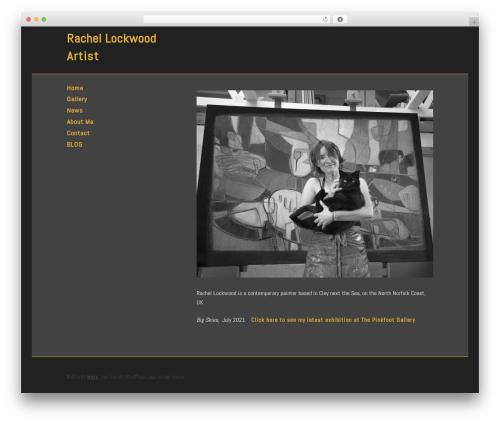 Make template WordPress - rachellockwoodartist.co.uk