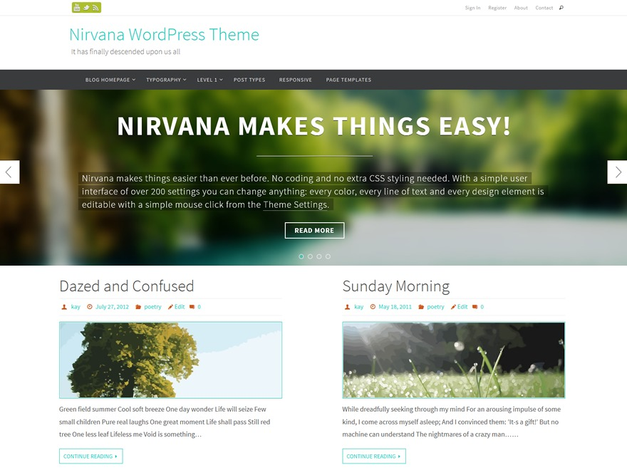 nirvana-child theme WordPress