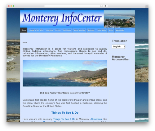 Responsive WordPress theme - montereyinfocenter.com