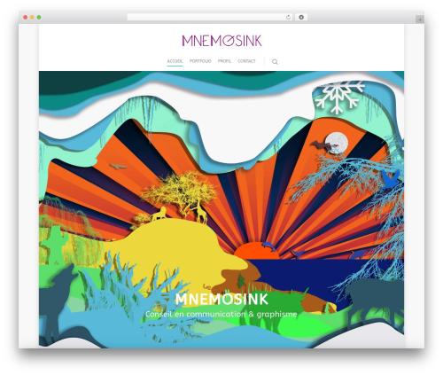 Salient WordPress theme - mnemosink.com