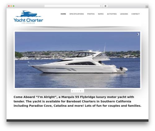 Sparse premium WordPress theme - yachtcharterla.com