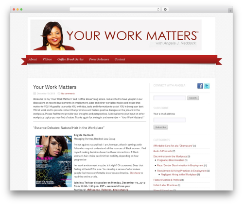 WordPress theme Delicacy - your-workmatters.com