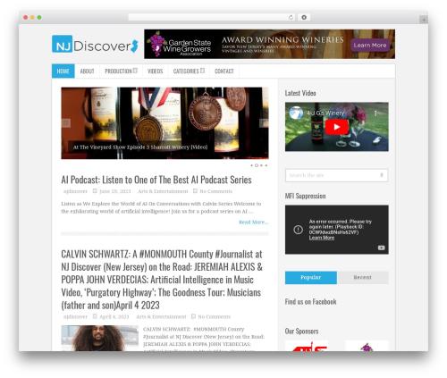 Carousel Theme WordPress template - mctv77.com