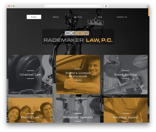 cherry WordPress theme - rademakerlaw.com