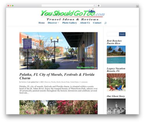 Divi wallpapers WordPress theme - youshouldgotoo.com
