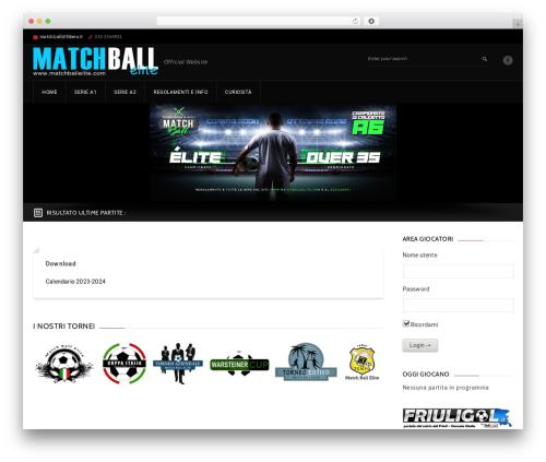 GoalKlub WordPress theme design - matchballelite.com