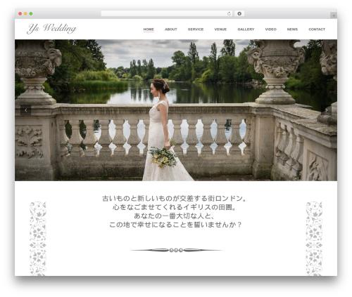 Jupiter best wedding WordPress theme - ys-wedding.com