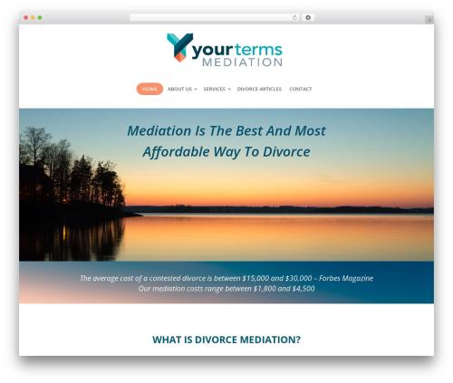 Lawyer best WordPress theme - yourtermsmediation.com