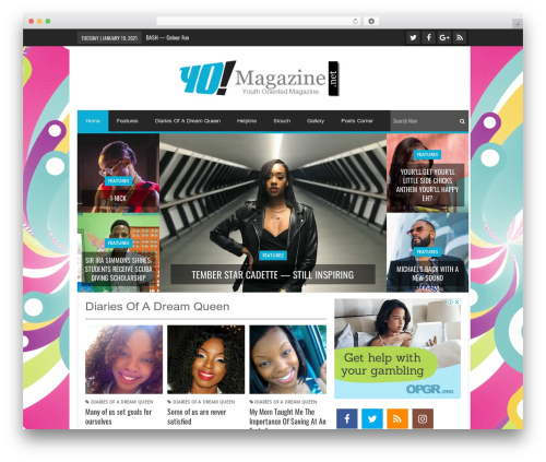 Lineza WordPress magazine theme - yomagazine.net