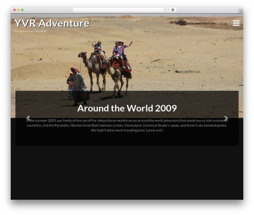 Travellator WordPress theme design - yvradventure.com