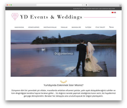 Wedding Suite template WordPress - yurtdisindadugun.com/tr