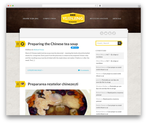 WordPress theme Writer Child - yijinjing.ro