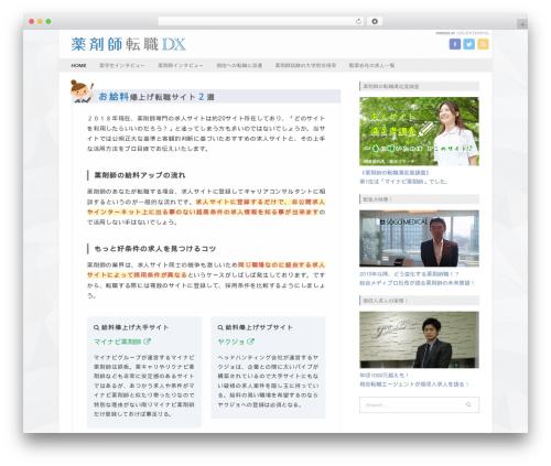 Best WordPress template Fresh & Clean - yaku-st.com