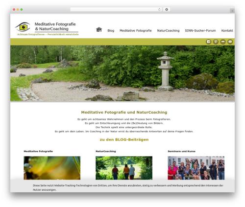 Celestial Reloaded premium WordPress theme - meditative-fotografie.de