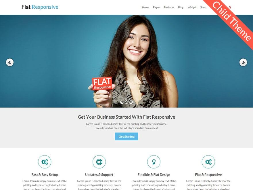 Flat Responsive Child WordPress shop theme