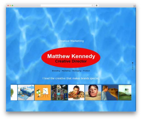 Themify Fullpane best WordPress template - matthew-k.com