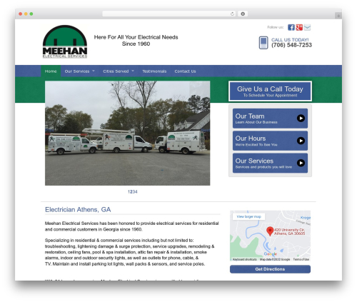 Web Weaver Elite 501 premium WordPress theme - meehanelectricalservices.com