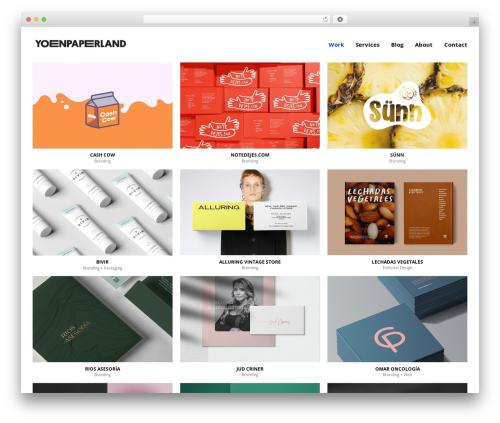 WordPress theme Semplice - yoenpaperland.com