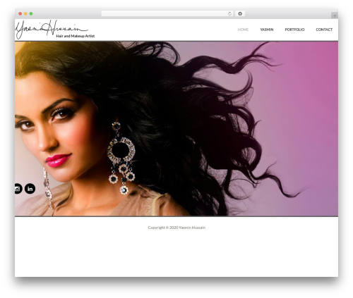 WordPress website template Yasmin - yasminhussain.com