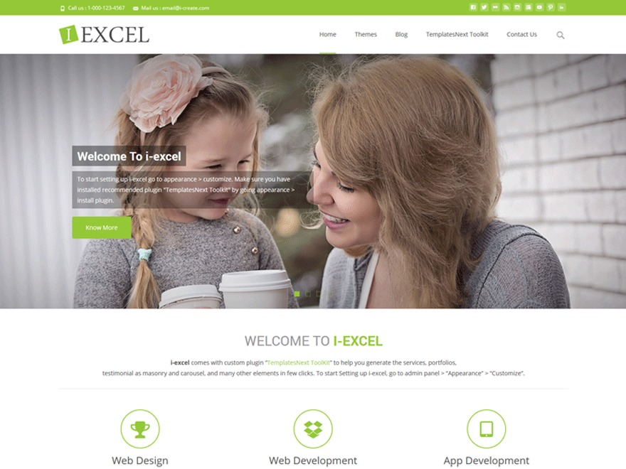 WP theme i-excel-child