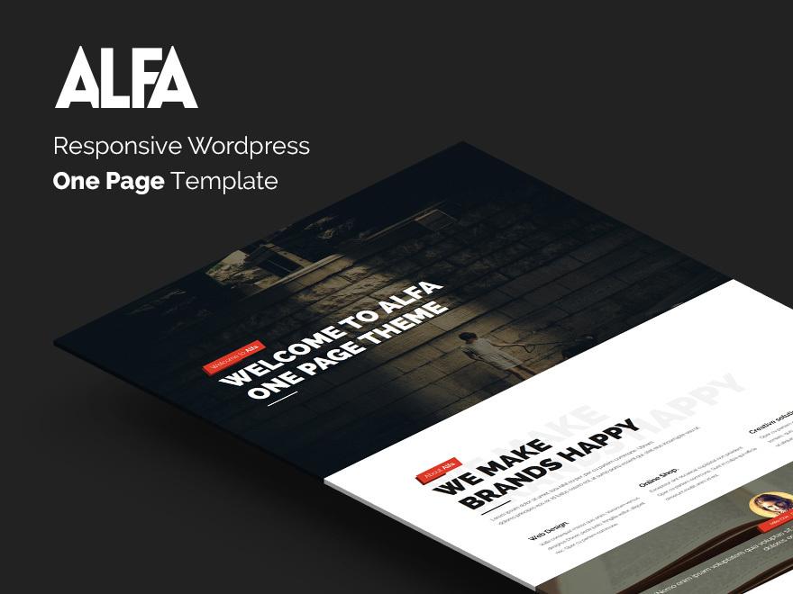 ALFA template best WordPress theme