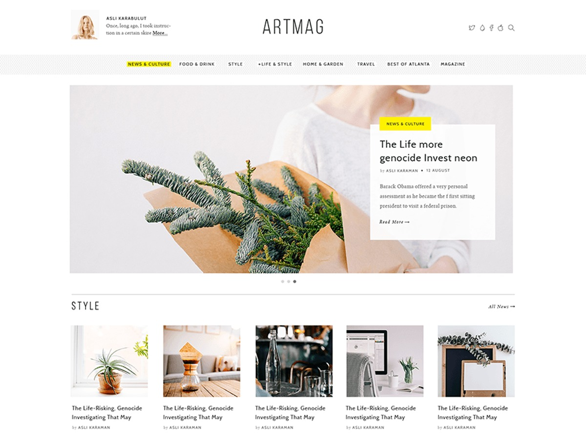 Artmag WordPress news template