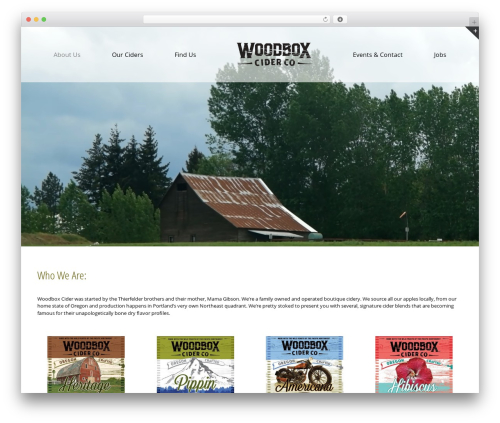 Avada WordPress theme design - woodboxcider.com