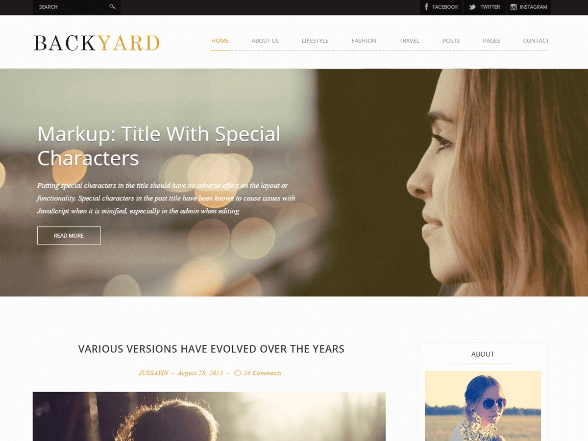 Backyard theme free download