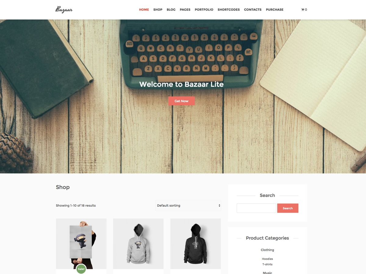 Bazaar Lite theme WordPress free