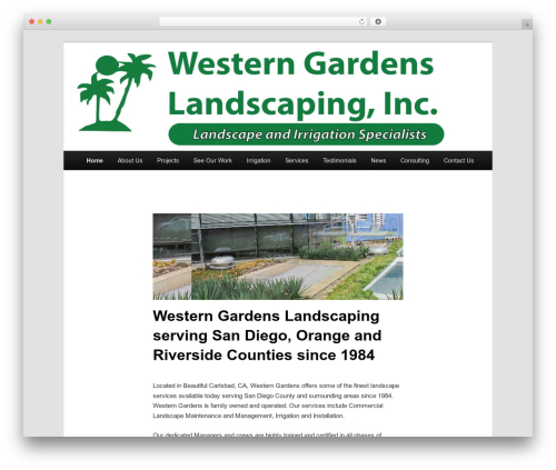 Best WordPress template Twenty Eleven - westerngardens.net