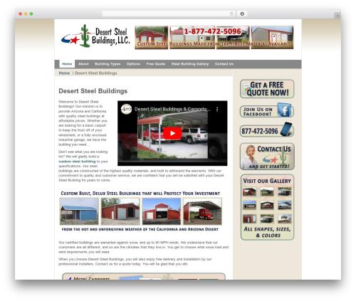 Best WordPress theme Afterburner Wordpress Theme - westernstatesmetalbuildings.com