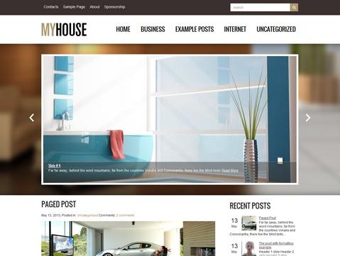 Best WordPress theme MyHouse