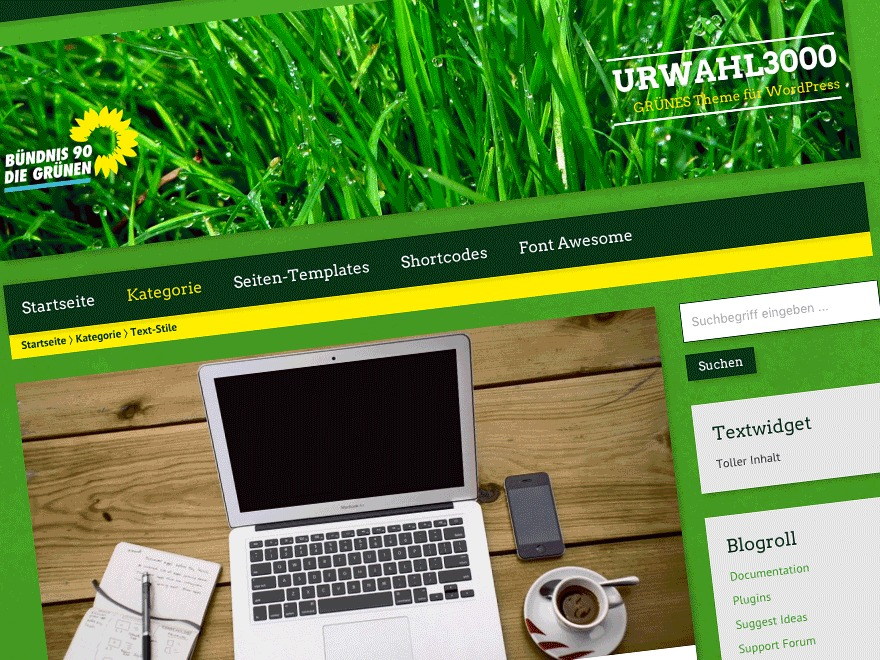 Best WordPress theme Urwahl3000
