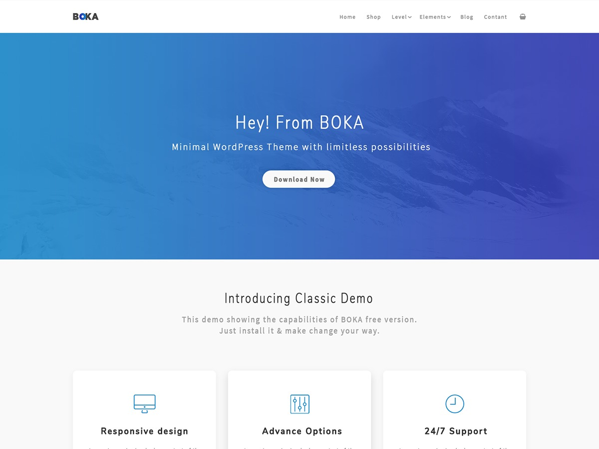 Boka WordPress theme download