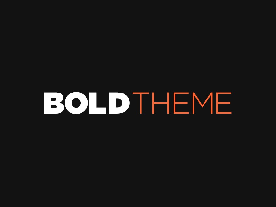 Bold template WordPress