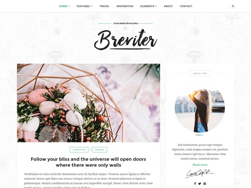 Breviter WordPress free download