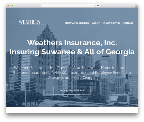 BrightFire Stellar company WordPress theme - weathersinsurance.com