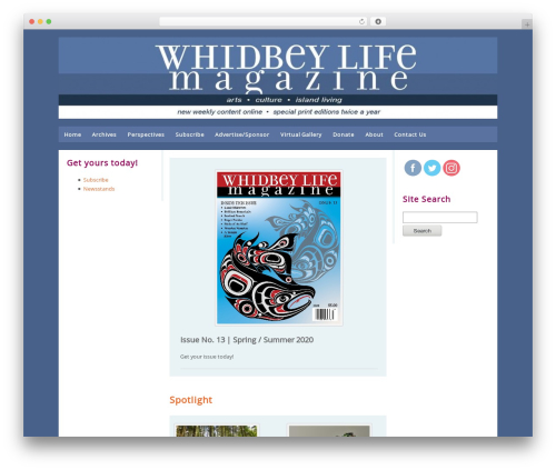 Builder WordPress theme - whidbeylifemagazine.org