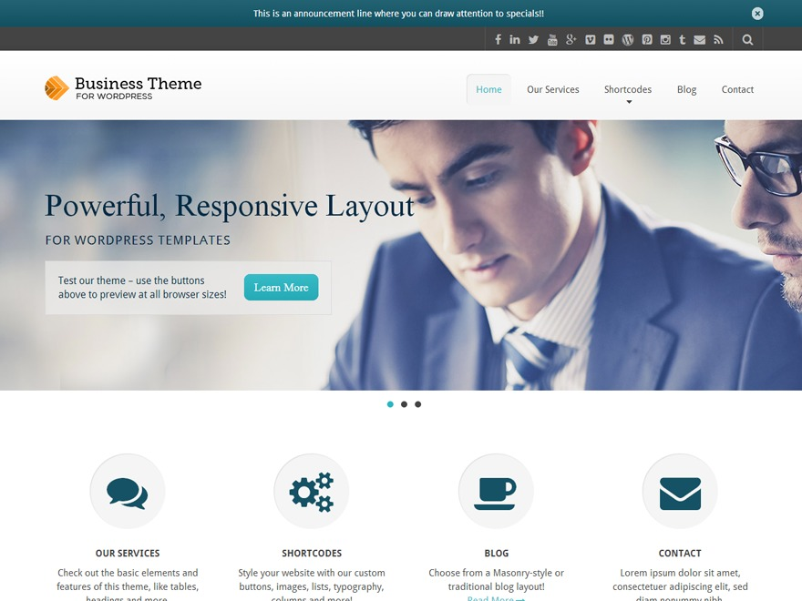 Business Pro business WordPress theme