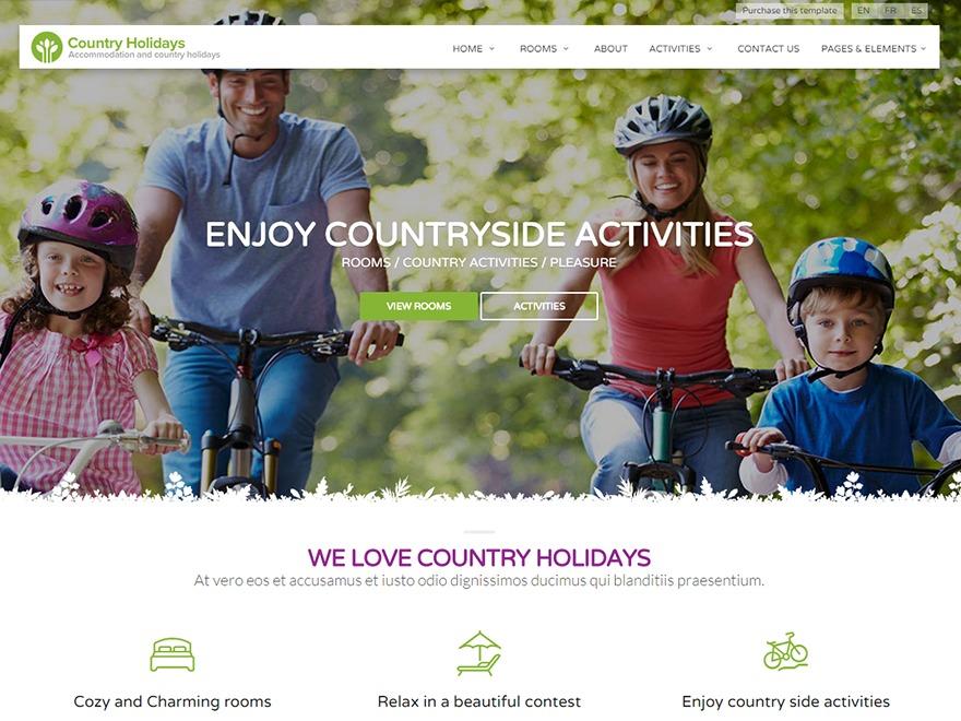 countryholidays newspaper WordPress theme