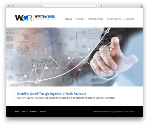 CS Radix WordPress theme - westerncapitalresources.com