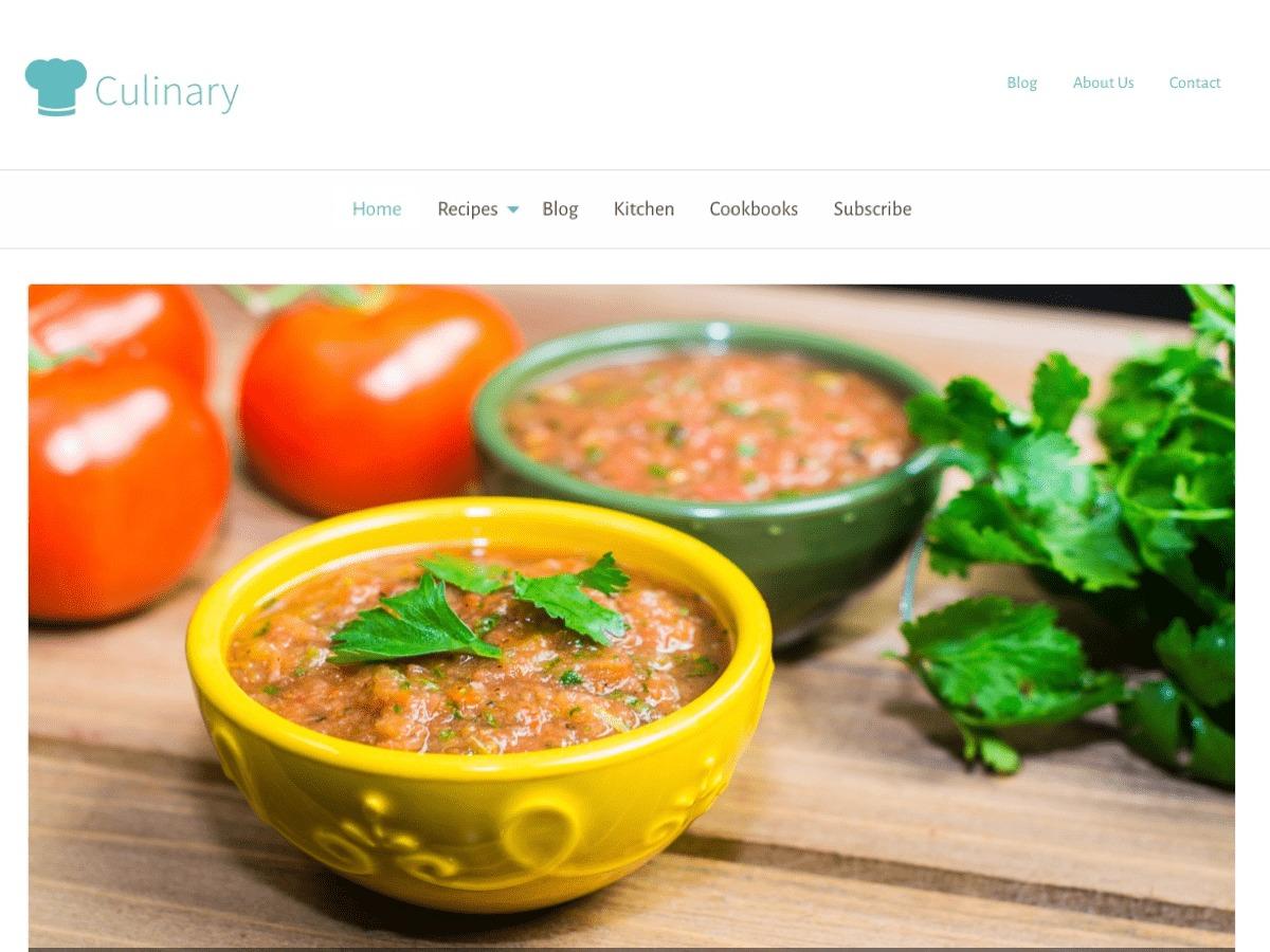 Culinary food WordPress theme