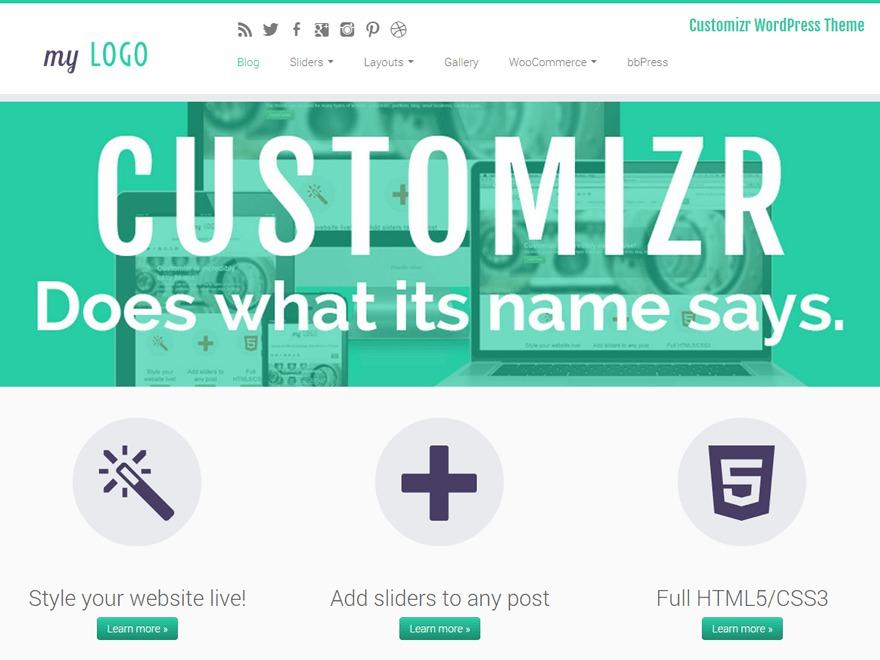 Customizr Child 01 best WordPress template