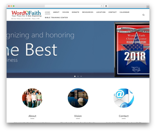 Customizr template WordPress free - wordoffaithknox.com