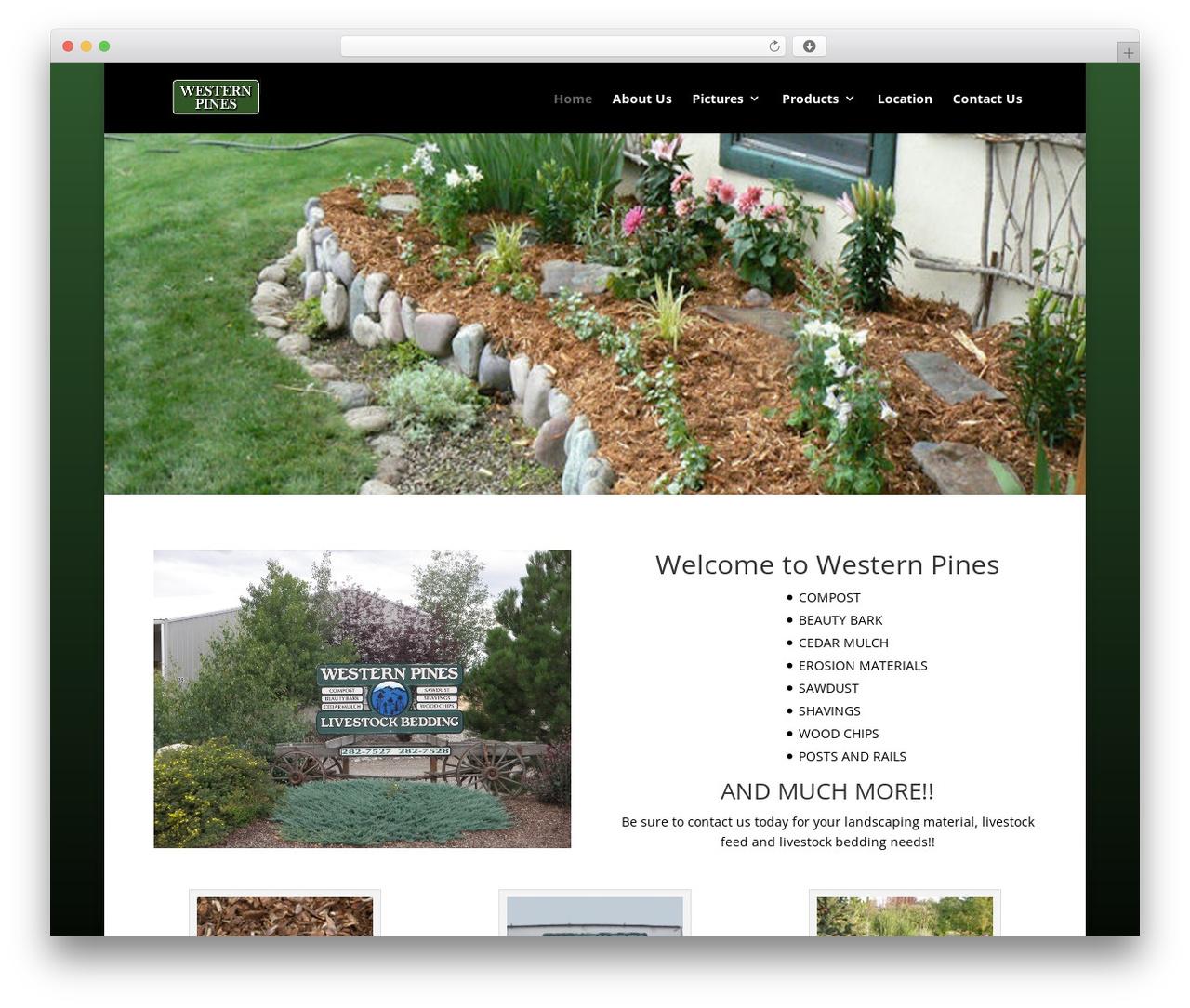 Divi premium WordPress theme - westernpineslandscaping.com