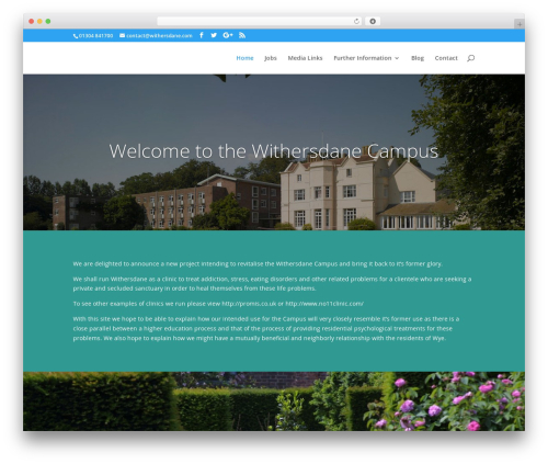 Divi WordPress theme - withersdane.com