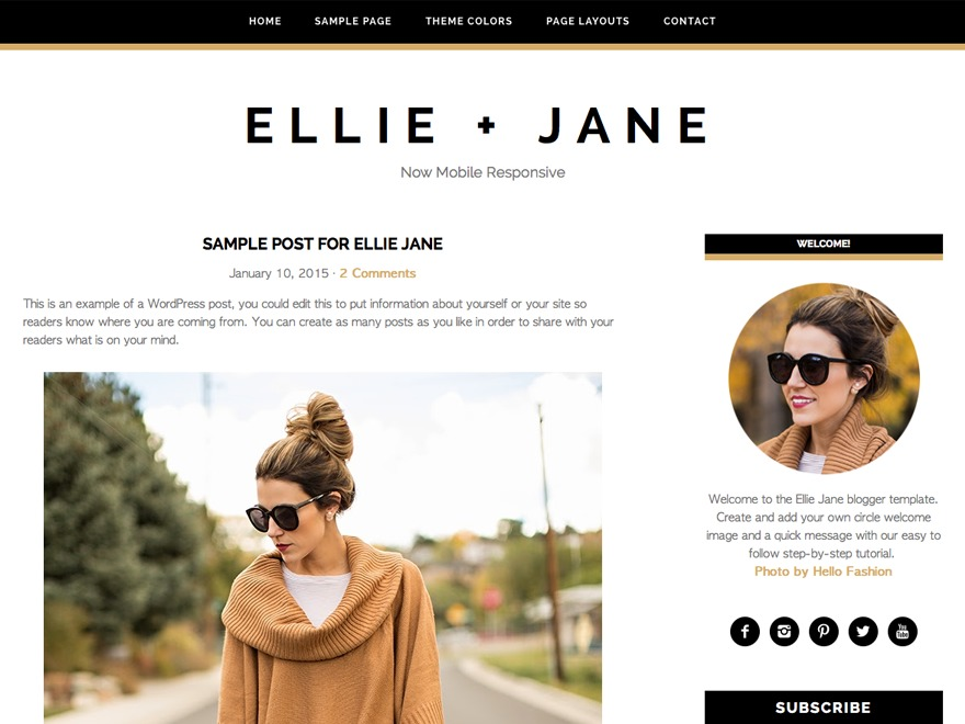 Ellie Jane Theme WP theme