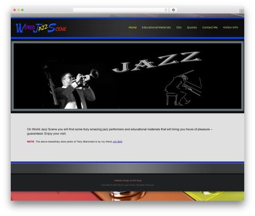 Encounters premium WordPress theme - worldjazzscene.com