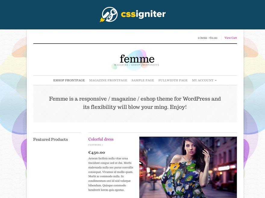 Femme best WordPress magazine theme