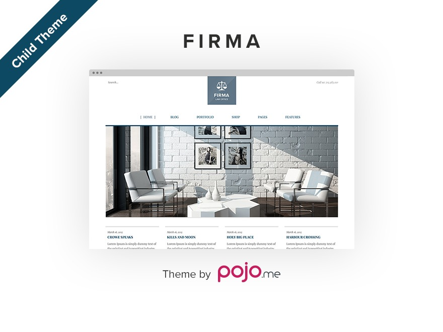 Firma Child business WordPress theme